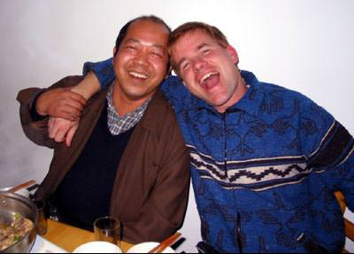 Drunk with Chinese artist, Ou-Yang Guo-De