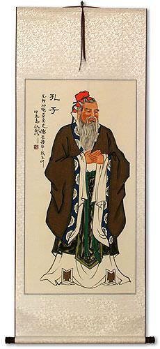 Confucius - Great Teacher - Wall Scroll